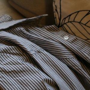 Dress shirt B&W stripes
